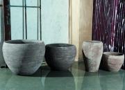vaso liscio SB90 grigio e SB72 tortora
